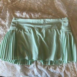 Pleated Mint Green Lululemon Skirt